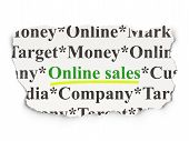 Advertising concept: Online Sales on Paper background