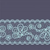 stock photo of doilies  - Old lace seamless pattern - JPG