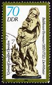 Postage Stamp Gdr 1984 Winter, By Balthasar Permoser