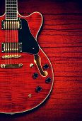 stock photo of fret  - red semi - JPG