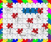 Jigsaw Drop-down Puzzle  2013- 2014  - Wishful Thinking 3