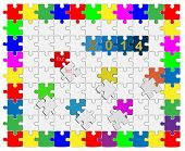 10 Jigsaw Drop-down Puzzle  2014 -your Text