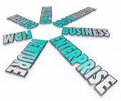 Enterprise Business Company Venture 3D Words