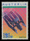 AUSTRALIA - CIRCA 1987: A Stamp printed in AUSTRALIA shows Robotics, Achievements Technology series,