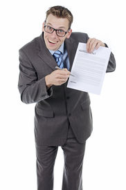 picture of nerds  - Goofy or nerd salesman or lawyer trying to make you sign a contract here - JPG