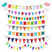 stock photo of school carnival  - Set of festive bunting  traditional - JPG
