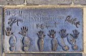 The Twilight Sagas Handprints In Hollywood Boulevard