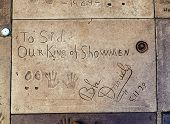 Handprints Of Bebe Daniels In Hollywood In The Concrete Of Chinese Theatre's Forecourt