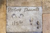 Robert Duvalls Handprints In Hollywood Boulevard In The Concrete Of Chinese Theatre's Forecourt