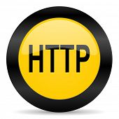 http black yellow web icon