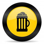 beer black yellow web icon