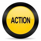 action black yellow web icon