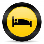hotel black yellow web icon
