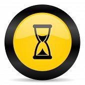 time black yellow web icon