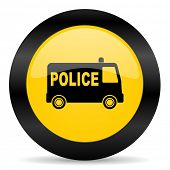 police black yellow web icon