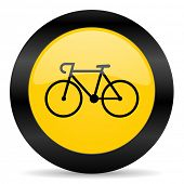 bicycle black yellow web icon