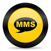 mms black yellow web icon