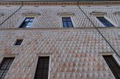 picture of ferrara  - Wall Texture Of The Diamonds Palace In Ferrara - JPG