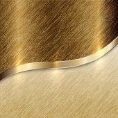 Vector golden texture background with curve line