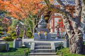 Buddha statue with the Guardians at Hasedera Temple in Kamakura