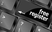 Free Register Computer Key Showing Internet