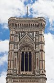 Bell tower detail of Florence Santa Maria del Fiore cathedral