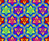 stock photo of rangoli  - Seamless bright festival indian Rangoli pattern - JPG