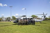 MH-60S helicopter from Helicopter Sea Combat Squadron Five with US Navy EOD team during Fleet Week