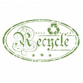 Recycle grunge rubber stamp