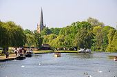 View along River Avon, Stratford-upon-Avon.