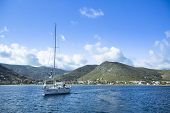 KEA, GREECE - APR 28, 2014: Marina of Kea, is a Greek island in the Cyclades archipelago in the Aegean Sea - convenient destination for weekends and yachting trips. The population 2,455 people.
