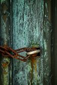 Rusty Chain And Lock