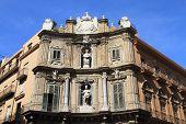 medieval Baroque square in Palermo