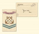 Vintage Vector Marine Postcard