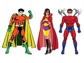 Superheroes vector #1