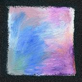 Abstract textured acrylic and oil pastel hand painted background. Impressionism style.
