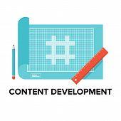 Content Development Flat Illustration
