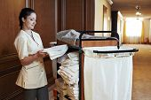 image of housekeeper  - Hotel room service - JPG