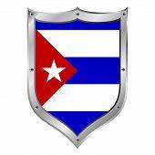 Cuba Flag Button.