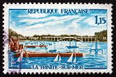 Postage Stamp France 1969 Sailboats In La Trinite-sur-mer Harbor