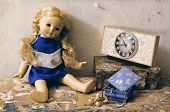 Retro Still Life Damaged Vintage Doll