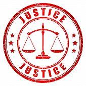 Justice vector stamp