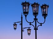 Two Wrought Iron Street Lanterns