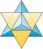 picture of octahedron  - A stellated octahedron - JPG