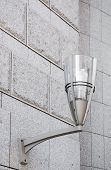 Modern Street Lamp On The Wall.