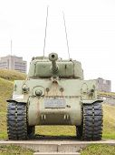 WWII M4 Sherman Tank at La Citadelle, Quebec City, Quebec, Canada. Sherman tank main battle tank des