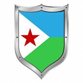 Djibouti Flag Button.