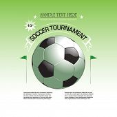 Soccer tournament invitation poster illustration