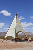 image of teepee  - An Indian Teepee set up at Highway Picnic Area - JPG
