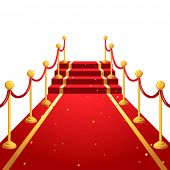 On the red carpet  background